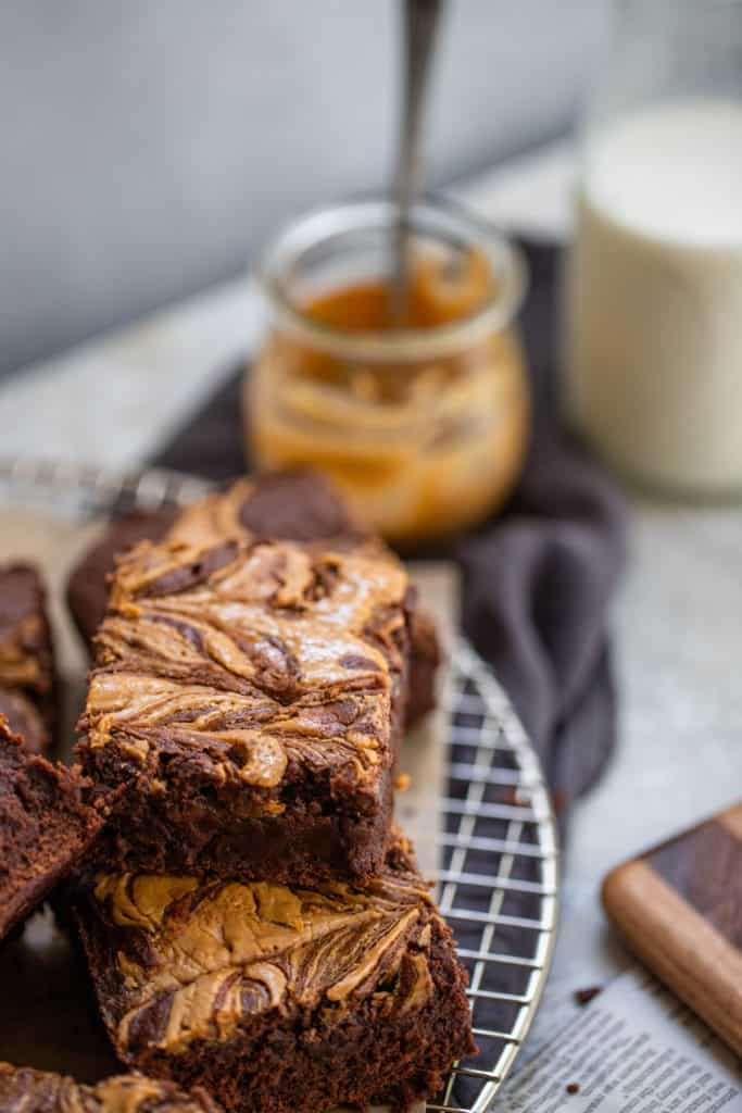 Rich, fudgy cakey brownies