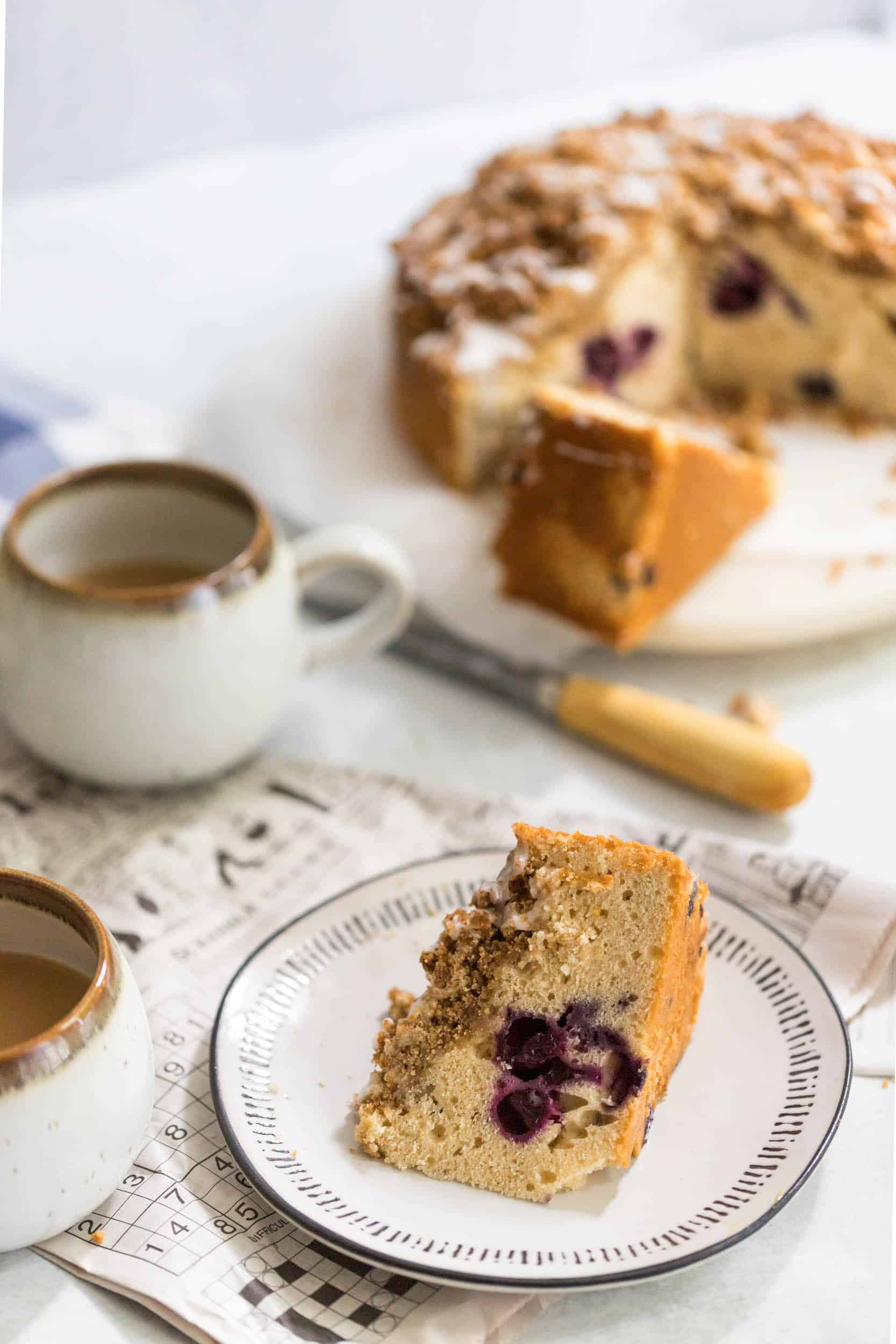 Blueberry Coffee Cake Scene