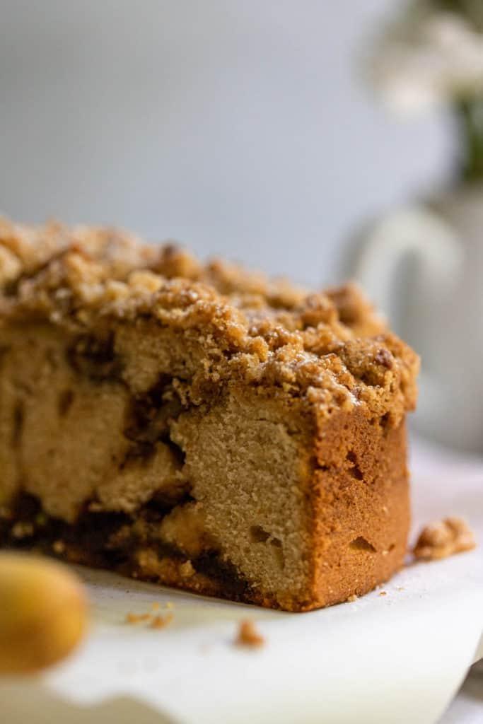 Closeup Cinnamon Apple Coffee Cake