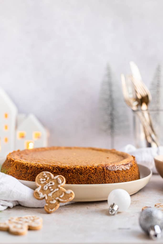 Whole Gingerbread Cheesecake with Pecan Crust