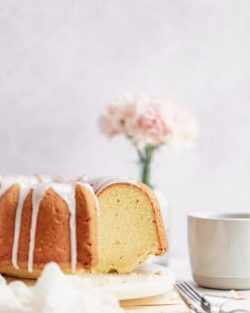 Cream Cheese Pound Cake Slice