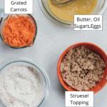 Carrot Cake Process Shot