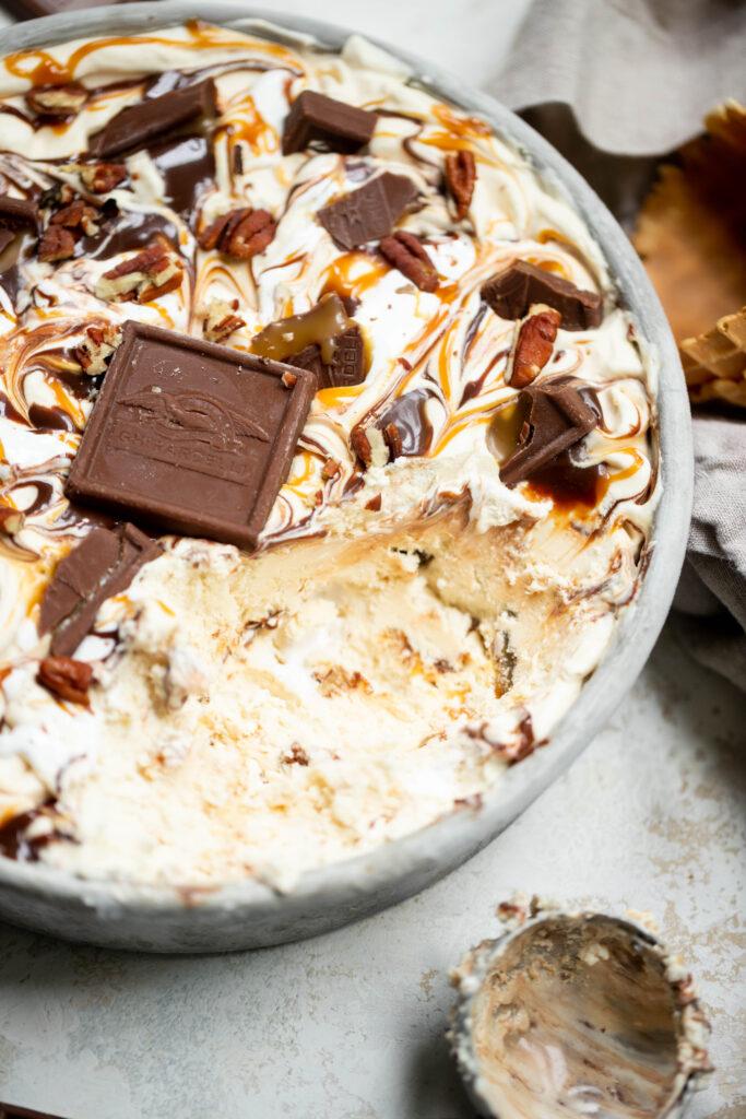 Turtle Caramel Ice Cream